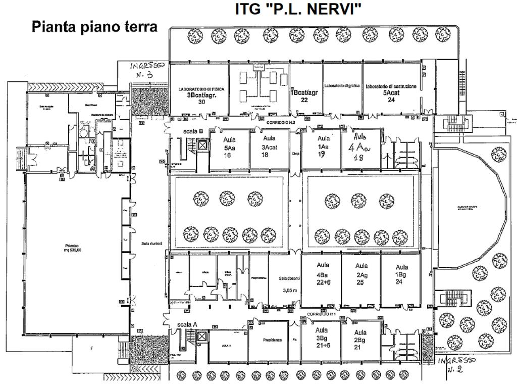ITG - Pianta piano terra con classi 2020-21